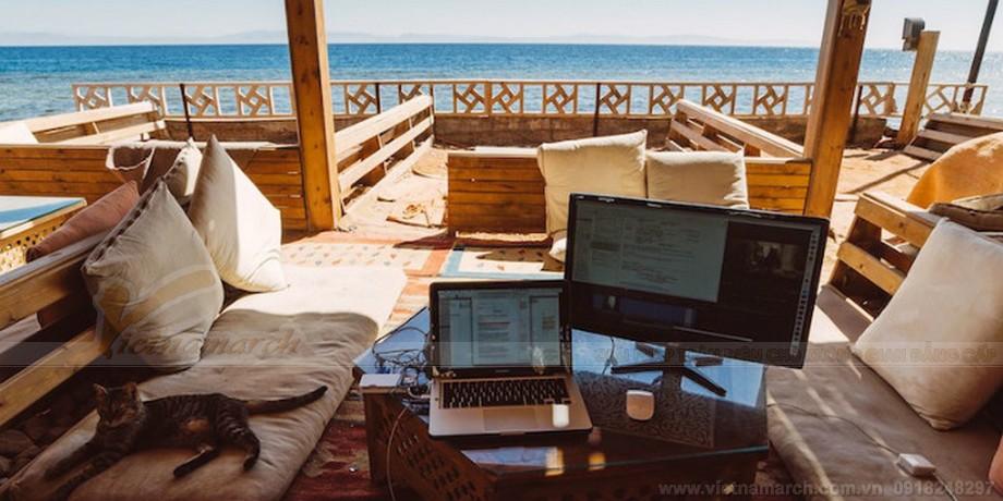 Coworking space CoworkInn tại Dahab, Ai Cập