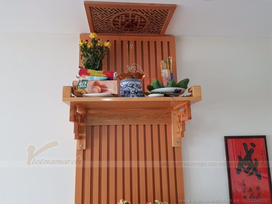 Sắp xếp bàn thờ cho nhà đất có diện tích nhỏ