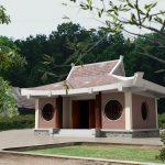 Mẫu nhà thờ họ xây bằng gạch không trát đẹp hiện đại