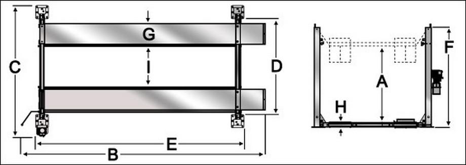 Bãi đỗ xe thông minh 8 chỗ sử dụng hệ thống ray trượt nâng hay hạ