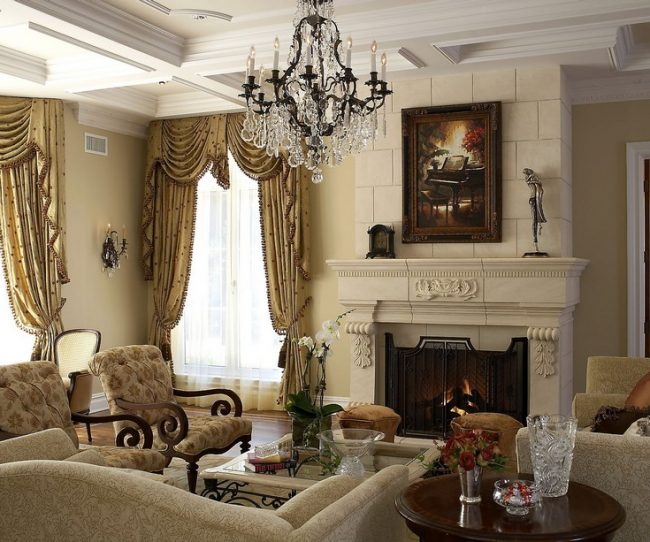 Bàn sofa cổ điển mặt đá cao cấp