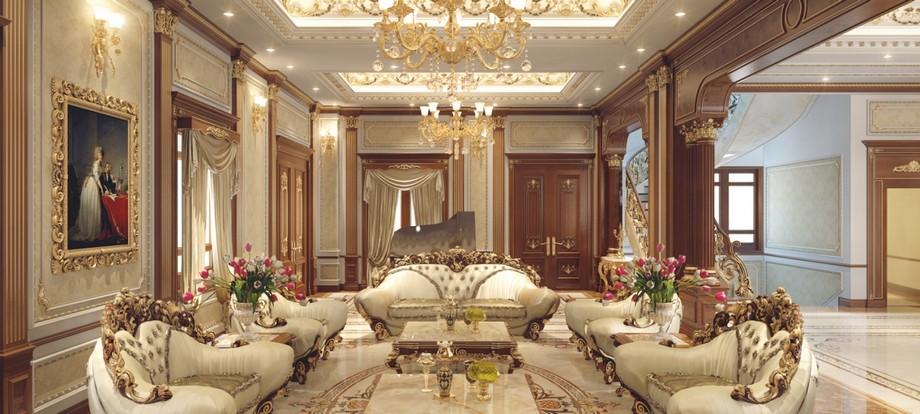Một bộ bàn sofa cổ điển cao cấp