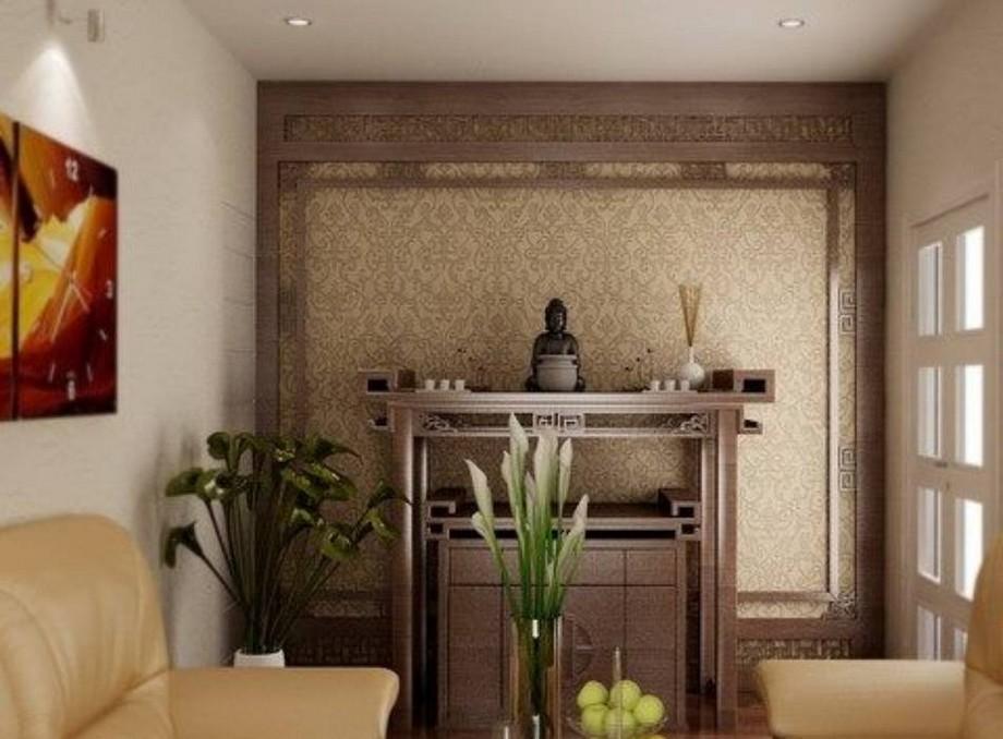 Mẫu tủ thờ Phật nhỏ gọn, hiện đại