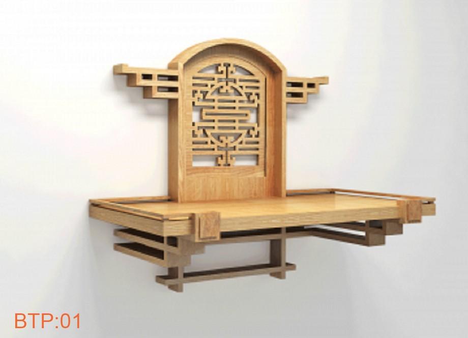 Kích thước bàn thờ Phật nhỏ đẹp treo tường mẫu mã đa dạng