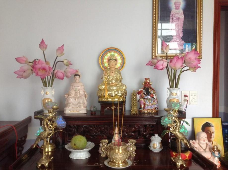 Bàn thờ Quan Âm nên đặt ở vị trí trang trọng trong nhà