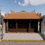 Thiết kế thi công nhà thờ họ 3 gian hai mái nhà anh Hoài Hà Nam