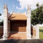 Hồ sơ thiết kế: Nhà thờ họ 1 gian diện tích nhỏ nhà anh Tâng-Sơn La