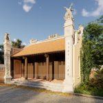 Ý nghĩa đôi cột đồng trụ nhà thờ họ trong tâm linh người Việt