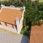 Thiết kế nhà thờ họ 3 gian kết hợp nhà ở  anh Vũ Hùng- Đồng Hới -Quảng Bình