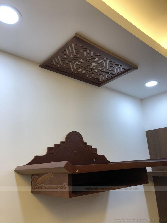 Mẫu bàn thờ treo 06 được lắp cho khu vực chung cư Giải Phóng