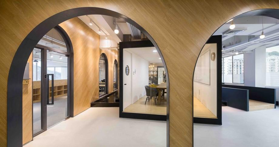 Thiết kế khu vực phòng họp không gian làm việc chung