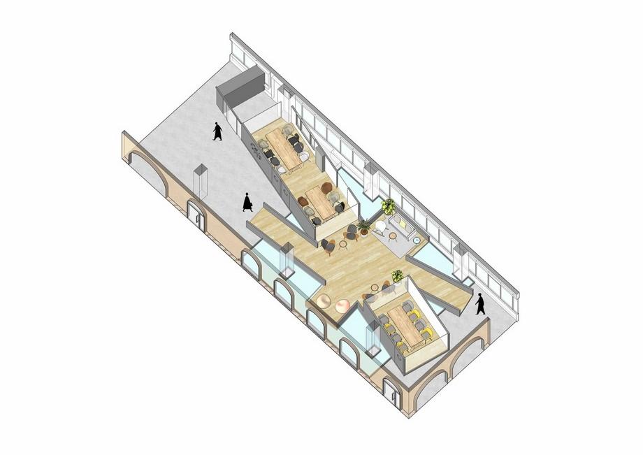Ý tưởng thiết kế dự án coworking space với dãy Parabol tuyệt đẹp