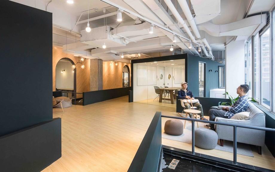 Thiết kế khu vực tiếp khách của không gian làm việc chung