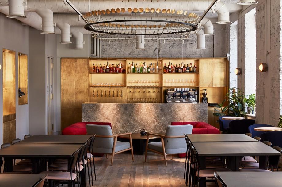 Thiết kế không gian làm việc chung đẹp tựa quán bar hiện đại