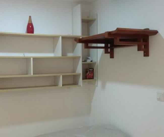 Lắp bàn thờ treo BTT 03 và tấm chắn ám khói cho căn hộ chung cư tại Seasons Avenue-Hà Đông