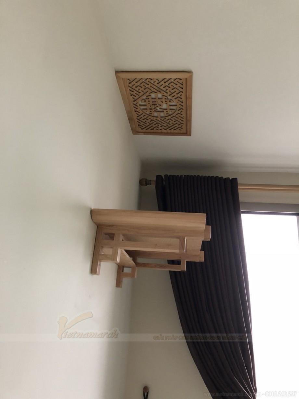 Lắp bàn thờ gỗ sồi cho chung cư Hyundai Hà Đông