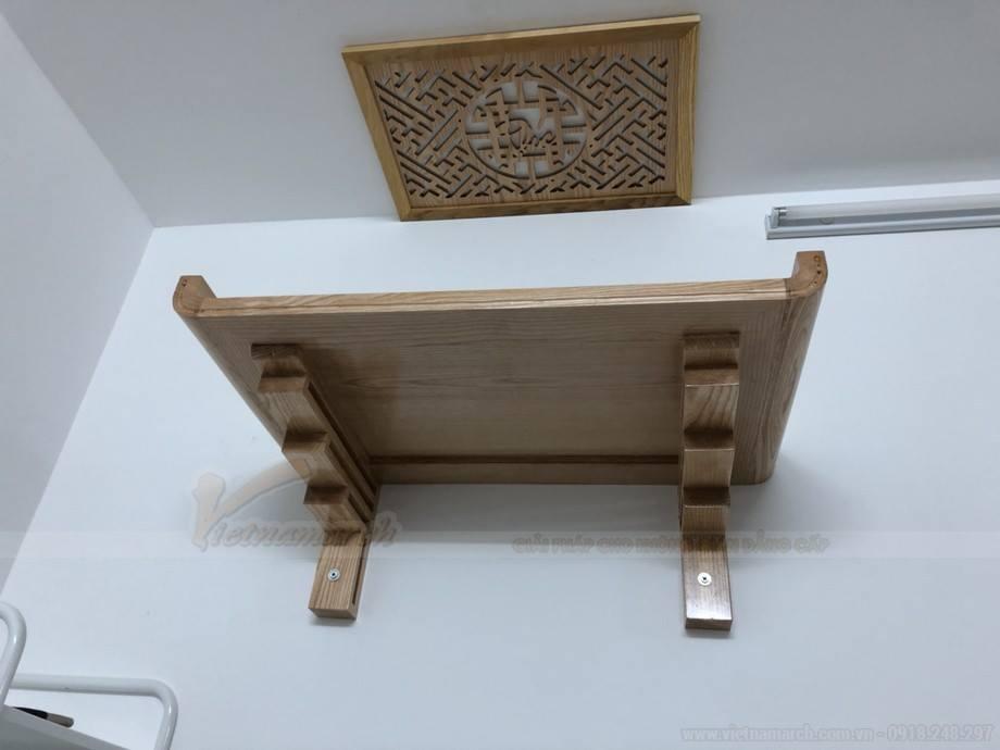 Mẫu bàn thờ lắp đặt cho chung cư Thanh Hà