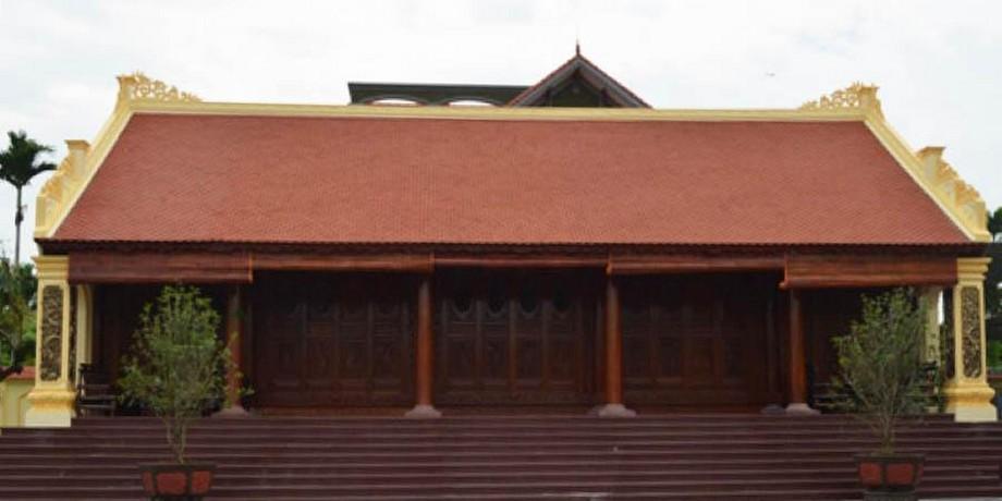 Mẫu nhà thờ họ bằng gỗ lim