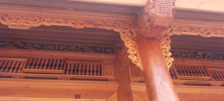 Mẫu nhà thờ họ bằng gỗ mít 5 gian