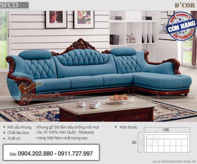 Mẫu sofa cổ điển cao cấp