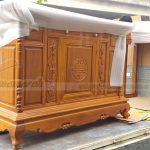 Mẫu tủ thờ 2 tầng gỗ gõ thiết kế riêng độc đáo cho gia đình ở Thanh Hóa