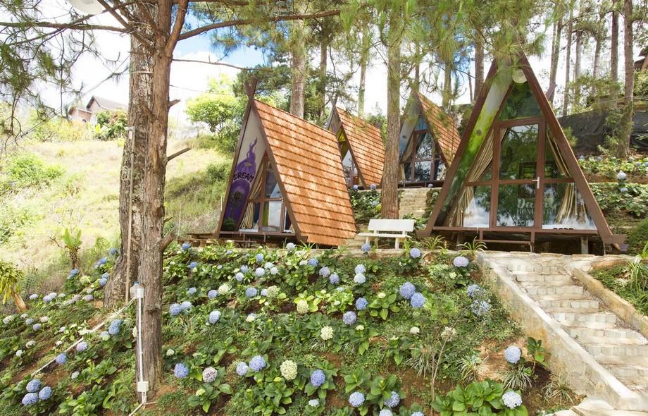 Nhà hình tam giác trong Đà Lạt hotel container
