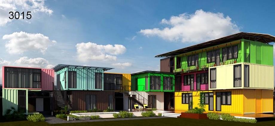 Nhà container Vũng Tàu với màu sắc bắt mắt