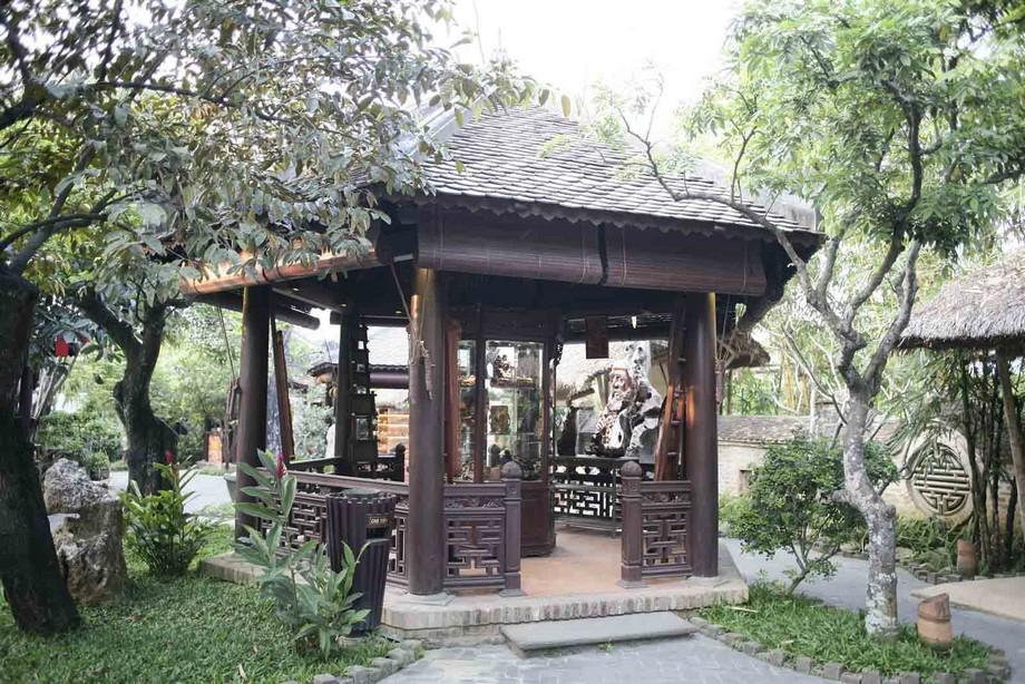 Nhà gỗ lục giác đẹp 1 mái