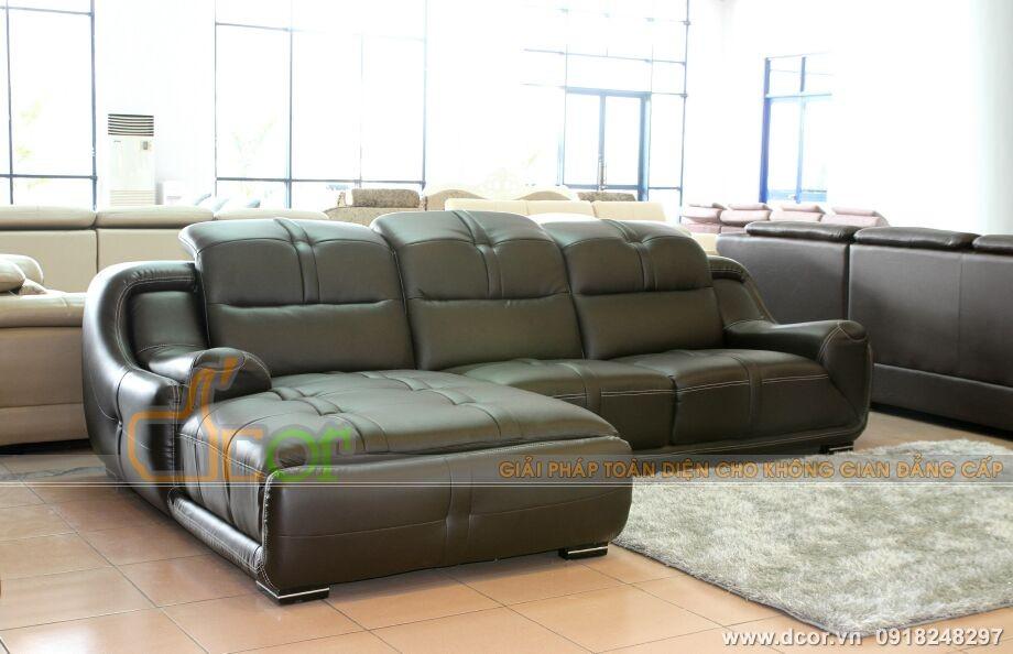 sofa góc da nhập khẩu Đài Loan