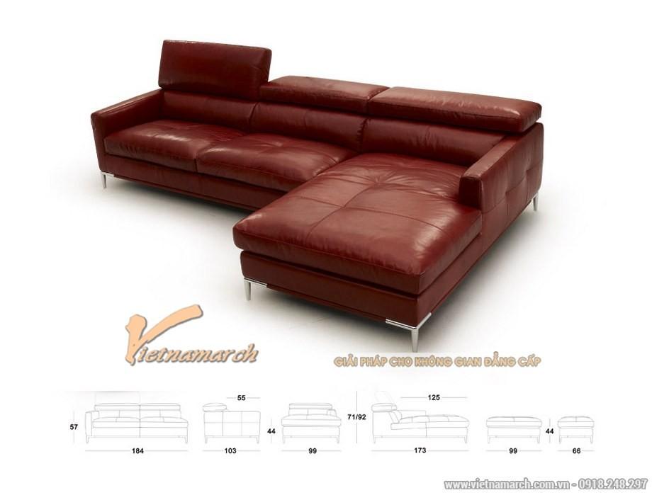 sofa góc da nhập khẩu Đài Loan hiện đại