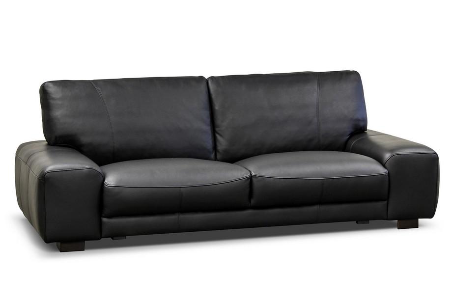 Mẫu sofa văng da nhập khẩu Nhật Bản màu đen hiện đại, sang trọng