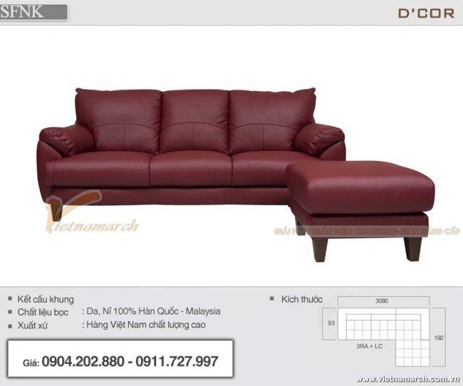 mẫu sofa da nhập khẩu Nhật Bản