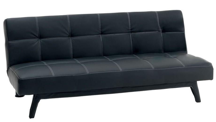 Mẫu sofa da nhập khẩu Nhật Bản màu đen đơn giản, cuốn hút