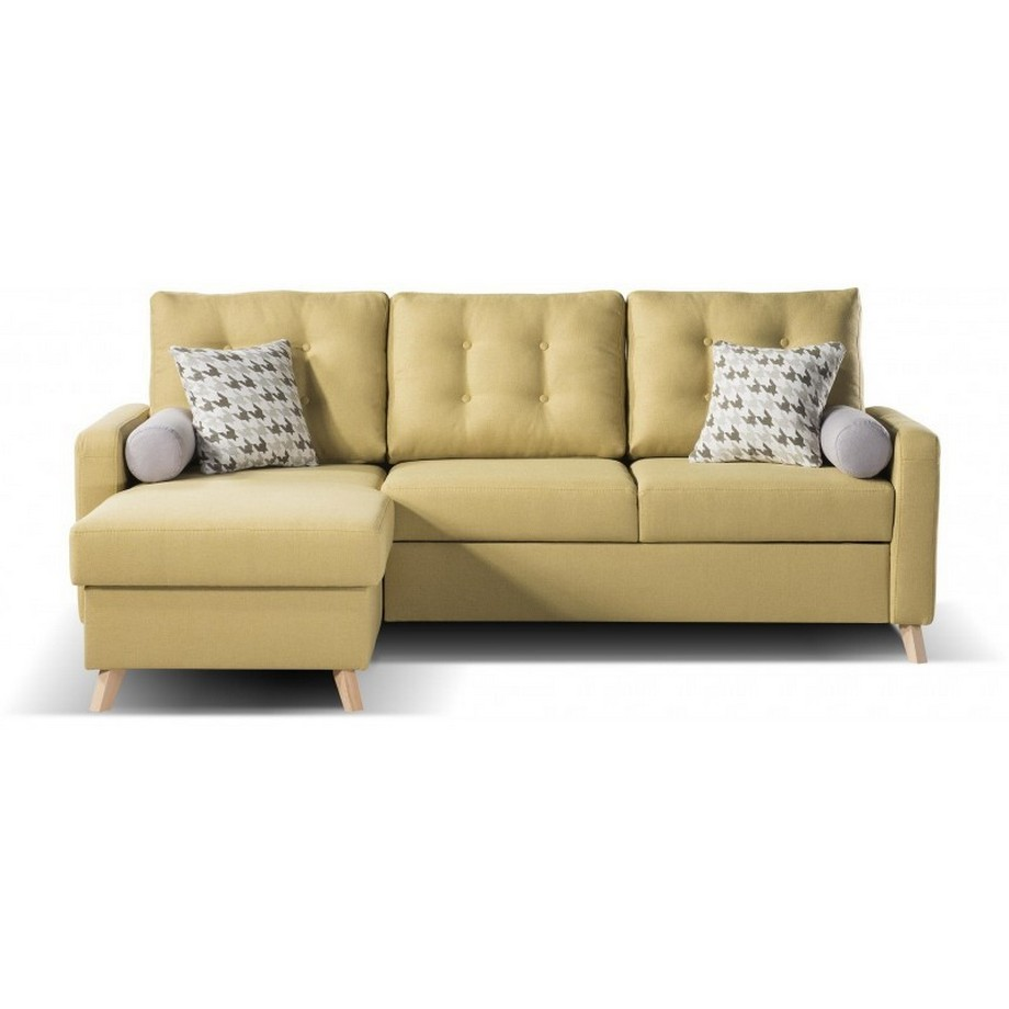 Sofa góc giường được bọc bằng da tạo cảm giácmềm mại
