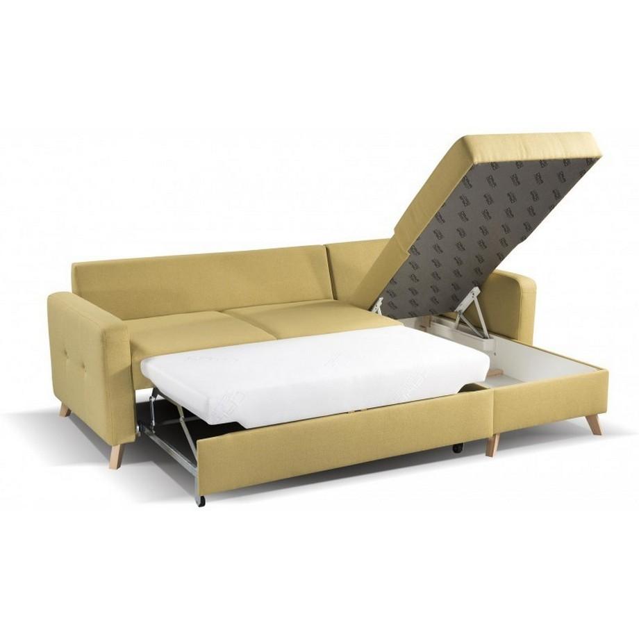 Mẫu sofa góc giường bọc da