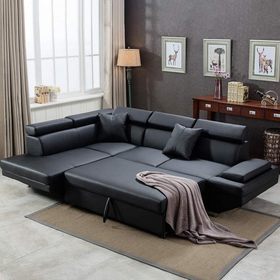 Chiếc giường nằm êm ái, thoải mái tích hợp bên trong chiếc ghế sofa