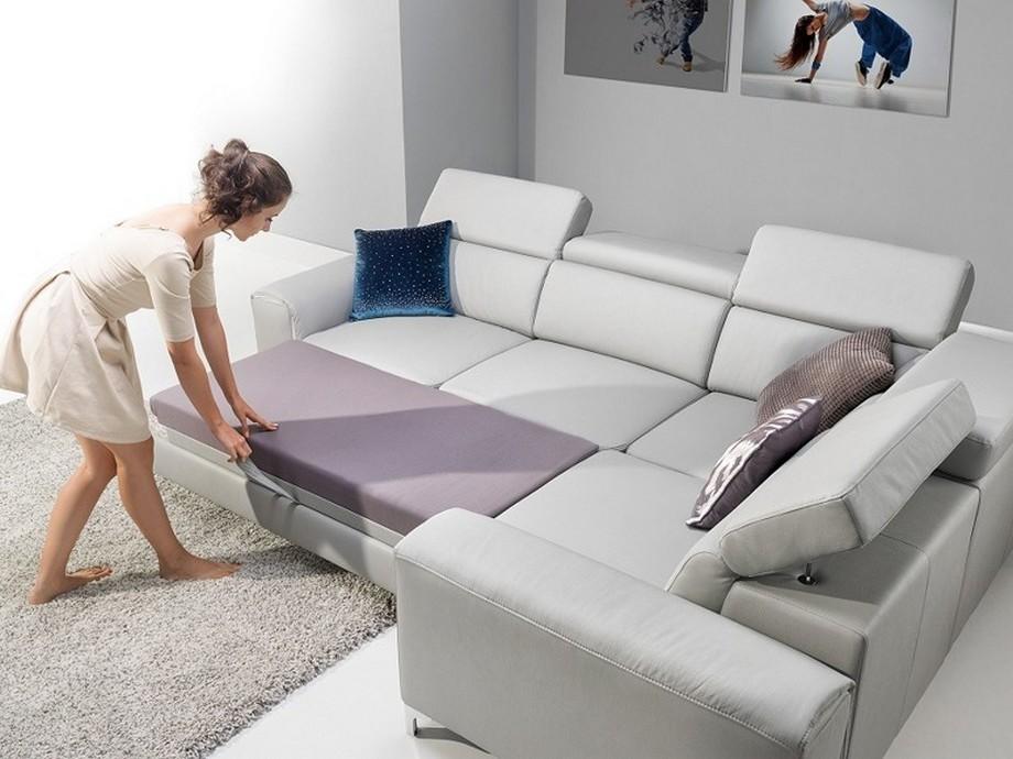 Sofa góc giường có kích thước chuẩn là 2,8 x 1,7 x 0,8 (m)
