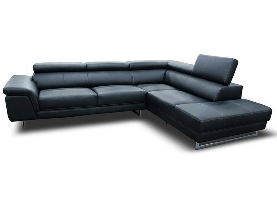 Sofa góc giường bọc da