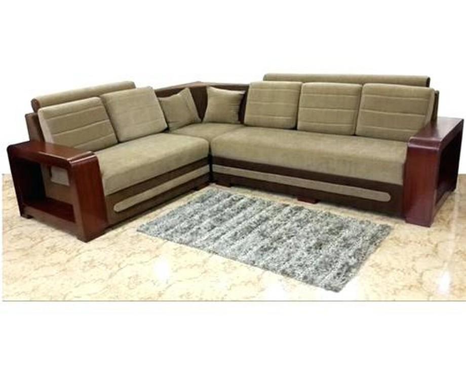 Sofa góc giường thông minh được làm bằng khung gỗ tự nhiên qua xử lý chống mối mọt ẩm mốc