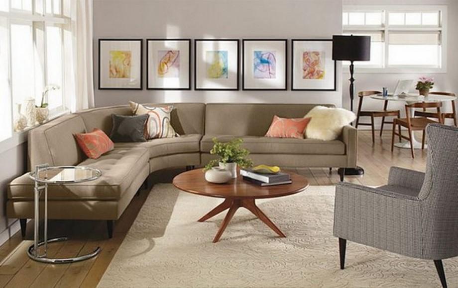 Mẫu sofa góc tròn vải nỉ mang đến cho bạn một không gian sống sang trọng