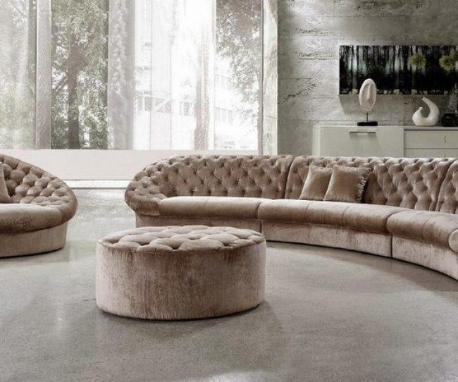 Chiếc ghế sofa góc tròn của bạn sẽ thể hiện phong cách