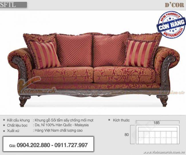 Mẫu sofa vải gấm sang trọng