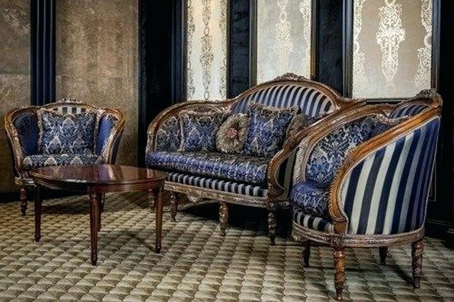 Mẫu vải gấm bọc sofa phong cách tân cổ điển