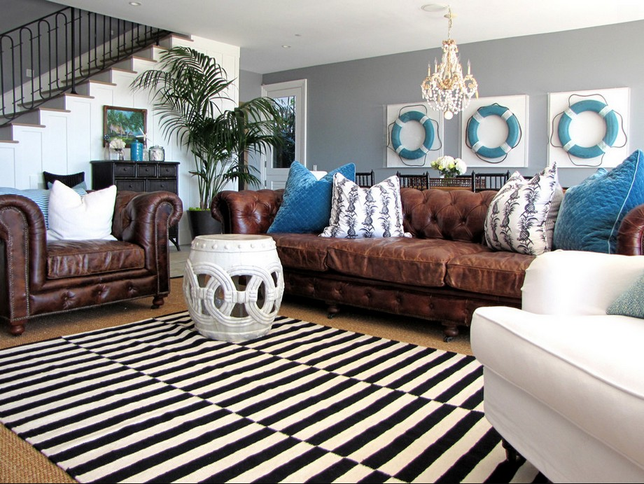 tấmthảmsofa nhập khẩu Đức với họa tiết sọc vằn