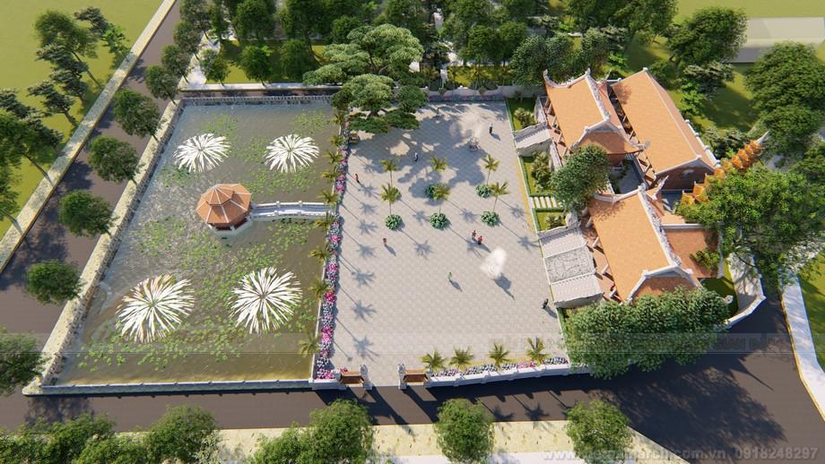 Nét đẹp của bản vẽ thiết kế 3D chùa Đình Sen Ninh Bình