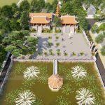 Thiết kế đình chùa mang tên Đình Sen ở Hoa Lư Ninh Bình-Đài các như đóa sen cao quý!