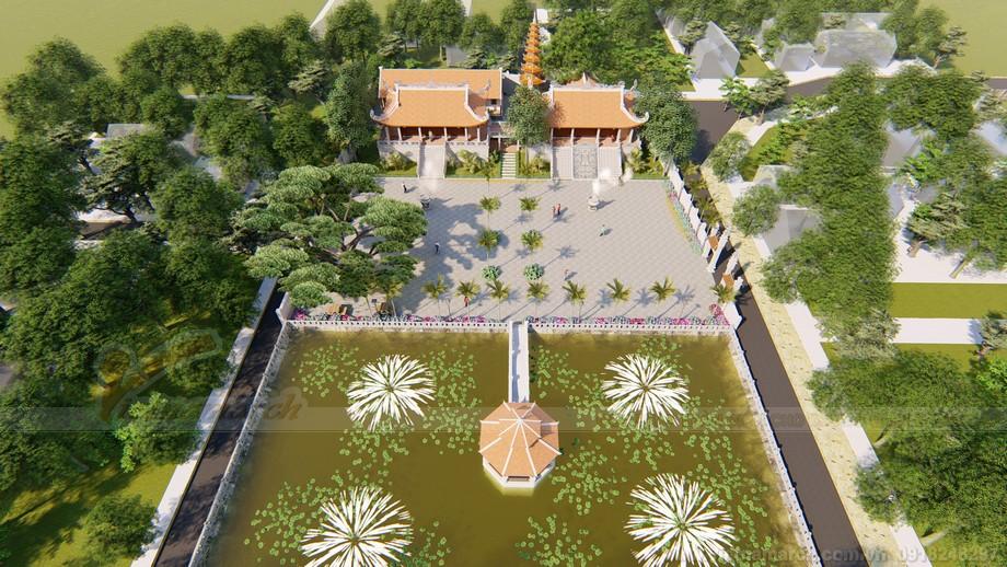 Thiết kế đình chùa mang tên Đình Sen ở Hoa Lư Ninh Bình