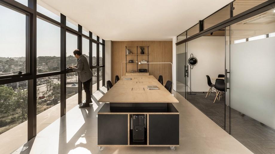 Thiết kế không gian làm việc chung coworking space với không gian mở tự do hướng ngoại