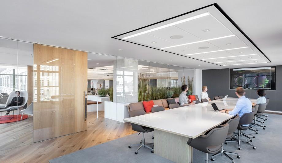 Thiết kế bàn ghế phòng làm việc tối giản trong coworking space