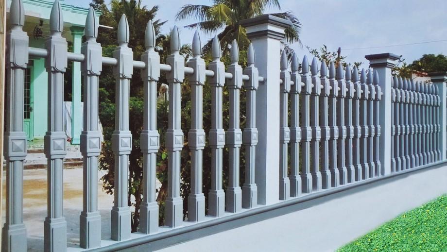 Mẫu hàng rào nhà thờ họ bê tông trụ tháp